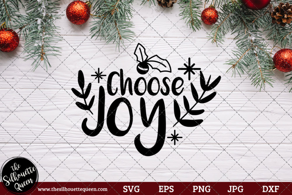 Choose Joy Saying SVG | Christmas SVG | Holiday SVG | Holiday Saying Jpg Eps Dxf Png Cut File for Cricut Clipart Silhouette