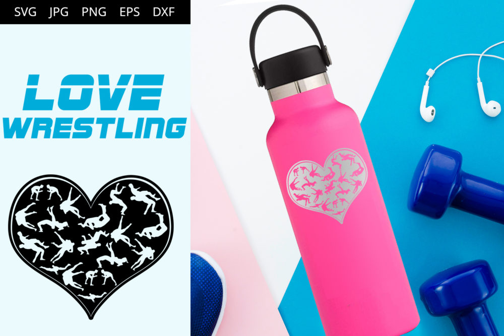Wrestling Men Love SVG Cut File Design