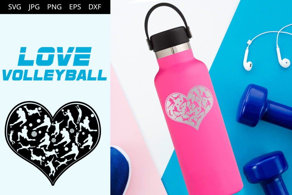 Volleyball Men Love SVG Cut File Design