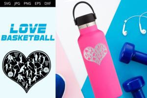Basketball Love SVG Cut File Design
