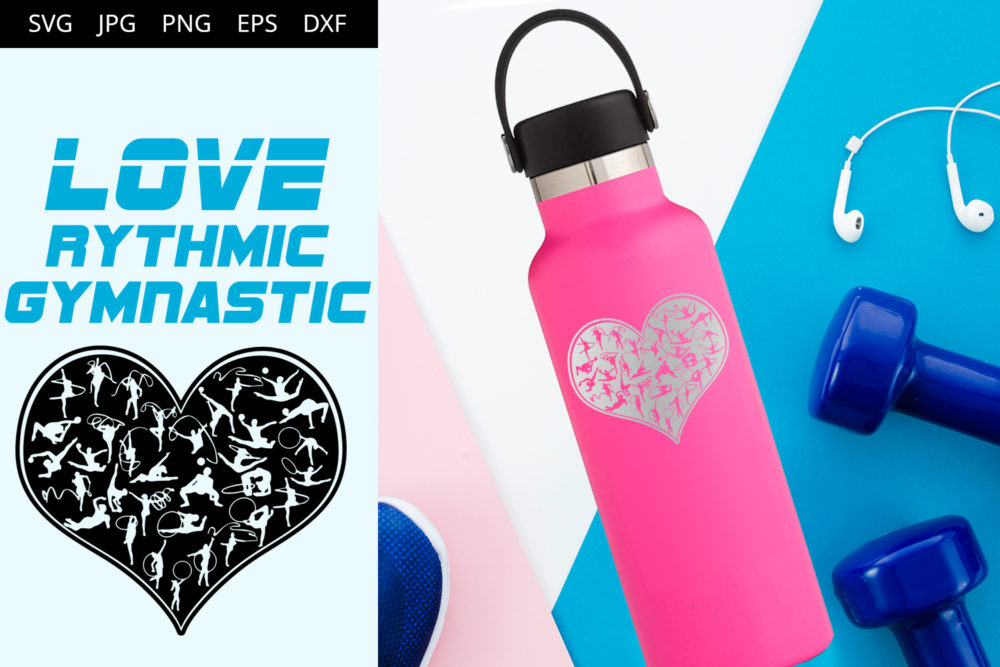 Rythmic Gymnastic Love SVG Cut File Design