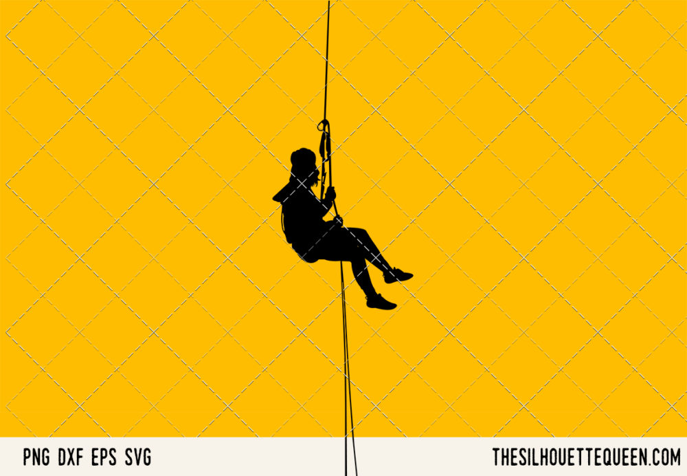 Abseiling SVG Bundle for Cutting