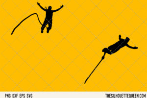 Bungee JUmping SVG Bundle for Cutting