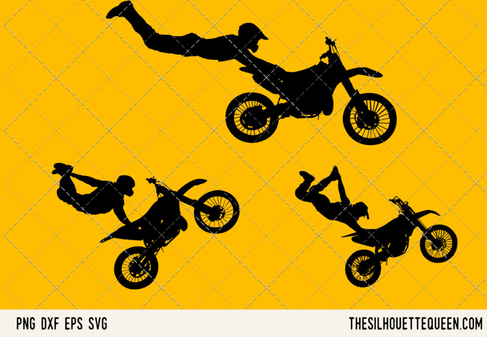 Freestyle motocross SVG Bundle for Cutting