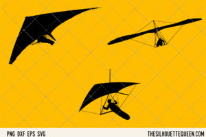 Hang Gliding SVG Bundle for Cutting