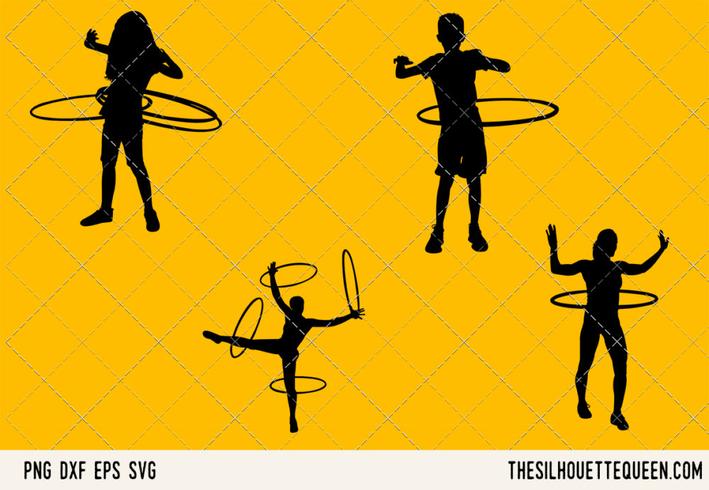Hula Hooping SVG Bundle for Cutting