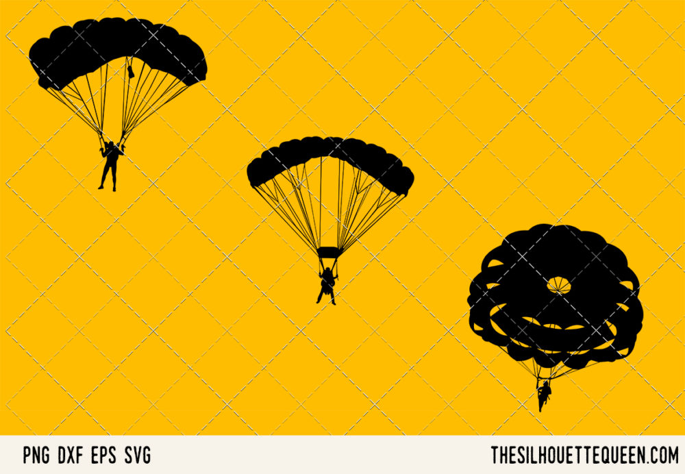 Parachuting SVG Bundle for Cutting