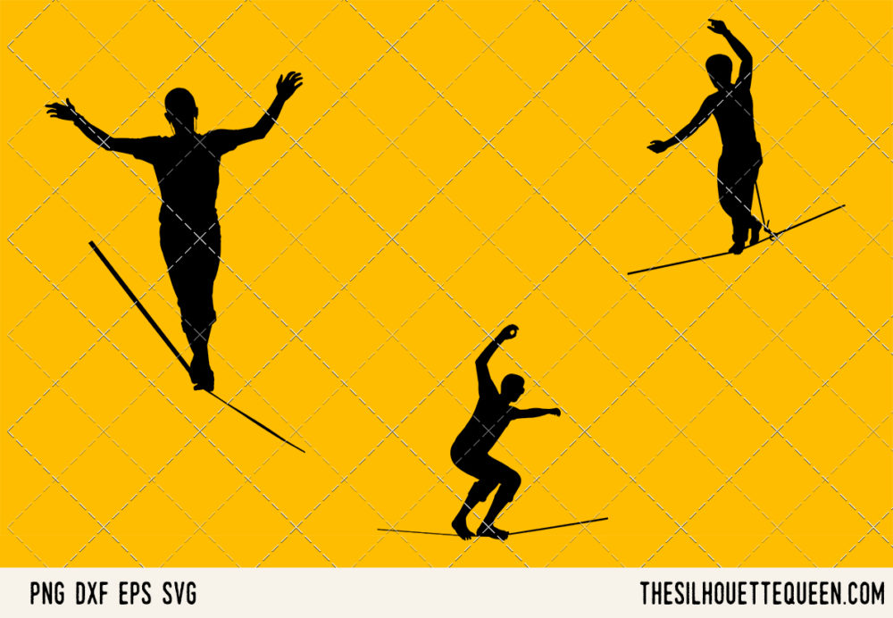 Slacklining SVG Bundle for Cutting