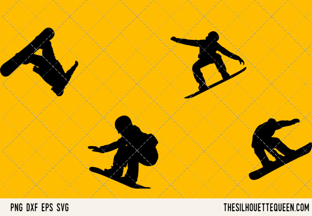 Snowboarding SVG Bundle for Cutting