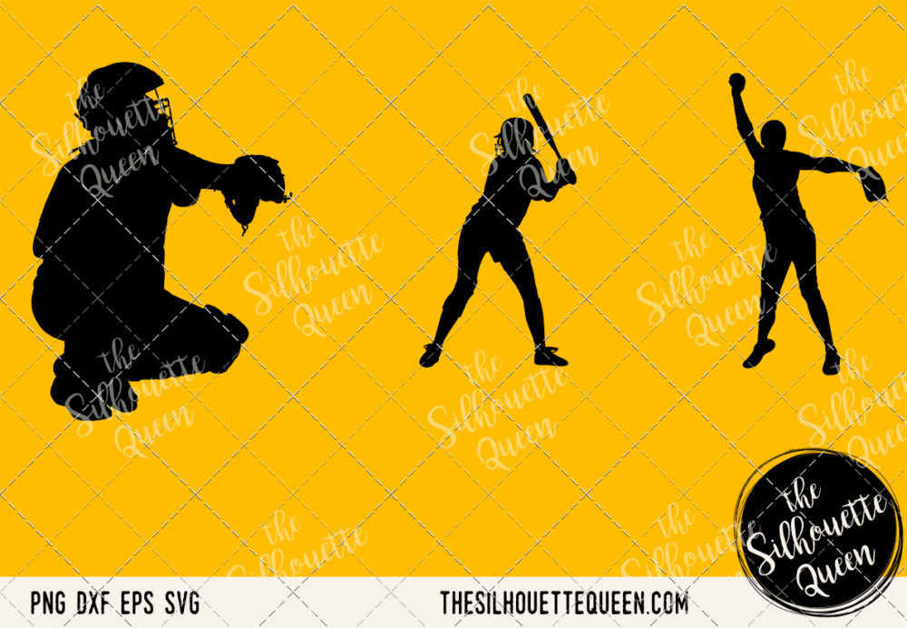 Softball Women SVG Bundle for Cutting