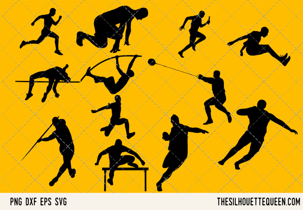Track and Field Men SVG Bundle for Cutting