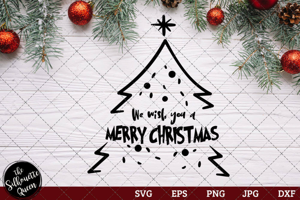 We Wish You a Merry Christmas Saying SVG | Christmas SVG | Holiday SVG | Holiday Saying Jpg Eps Dxf Png Cut File for Cricut Clipart Silhouette
