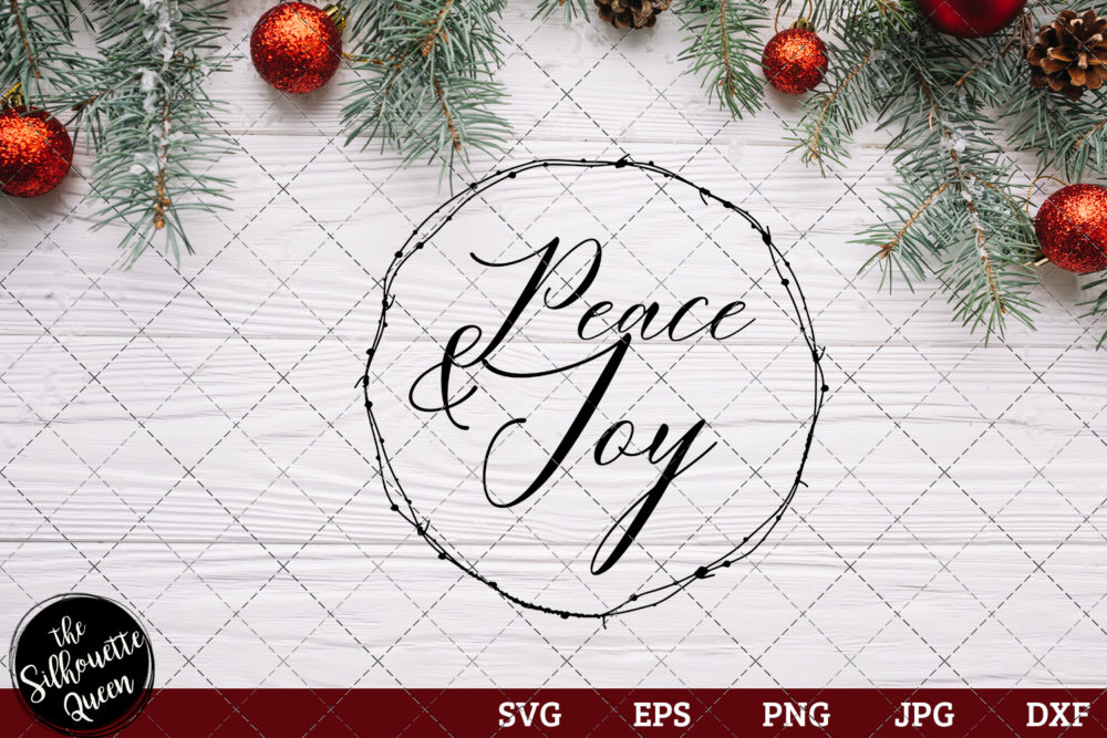 Peace And Joy Saying SVG | Christmas SVG | Holiday SVG | Holiday Saying Jpg Eps Dxf Png Cut File for Cricut Clipart Silhouette