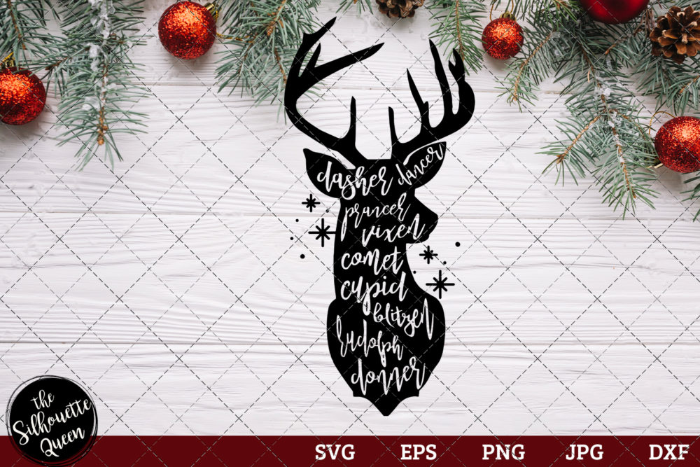 Dasher dancer Prancer vixen Saying SVG | Christmas SVG | Holiday SVG | Holiday Saying Jpg Eps Dxf Png Cut File for Cricut Clipart Silhouette