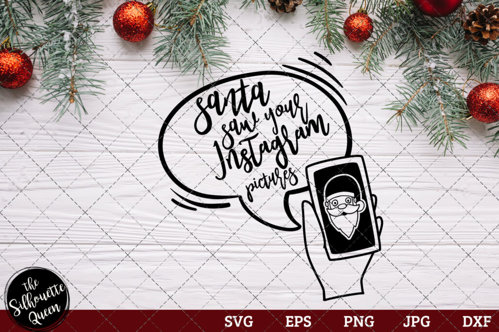Santa Saw Your Facebook Saying SVG | Christmas SVG | Holiday SVG | Holiday Saying Jpg Eps Dxf Png Cut File for Cricut Clipart Silhouette
