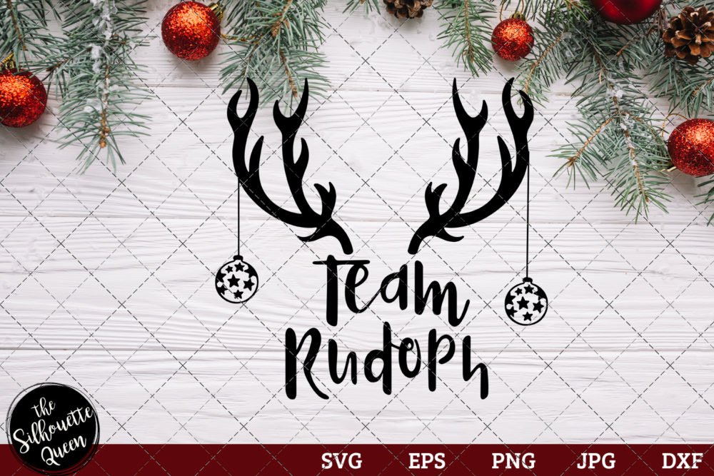 Team Rudolph Saying SVG | Christmas SVG | Holiday SVG | Holiday Saying Jpg Eps Dxf Png Cut File for Cricut Clipart Silhouette