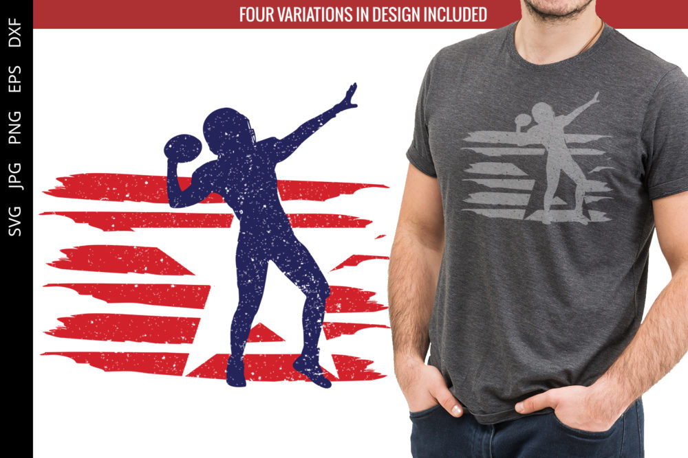 American Football -2 flag svg