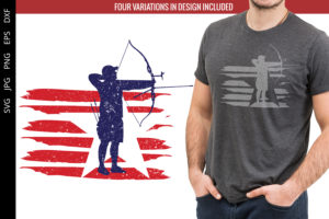 Archery - Men flag svg