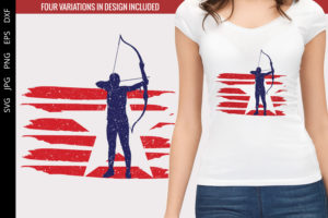 Archery - Women flag svg