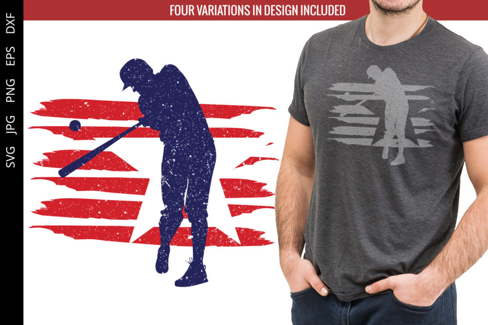 Baseball flag svg