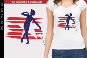 Baton Twirling - 2 flag svg