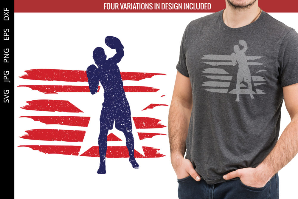 Boxing Men flag svg