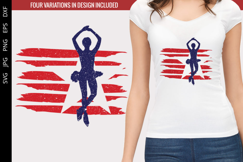 Figure Skating - Female flag svg
