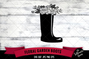 Gardening Boots SVG file