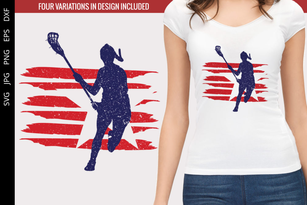 Lacrosse - Women flag svg