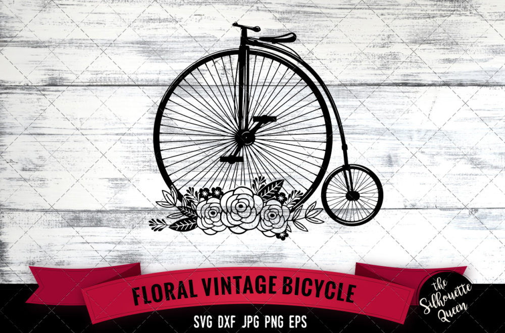 Vintage Bicycle SVG file