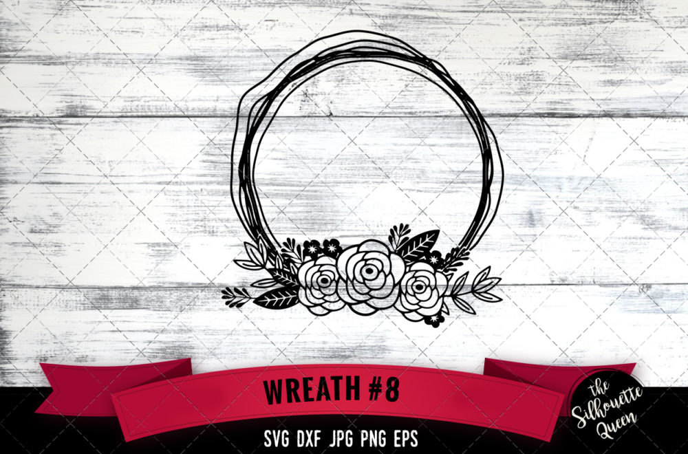 Wreath 8 SVG file