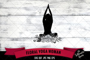 Yoga woman SVG file