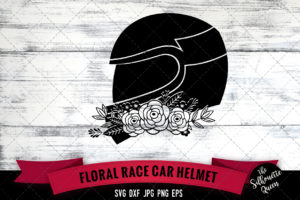 Race Car Helmet SVG file