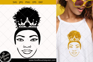Afro Woman Queen svg