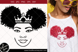Afro Woman svg with side Puffs Svg