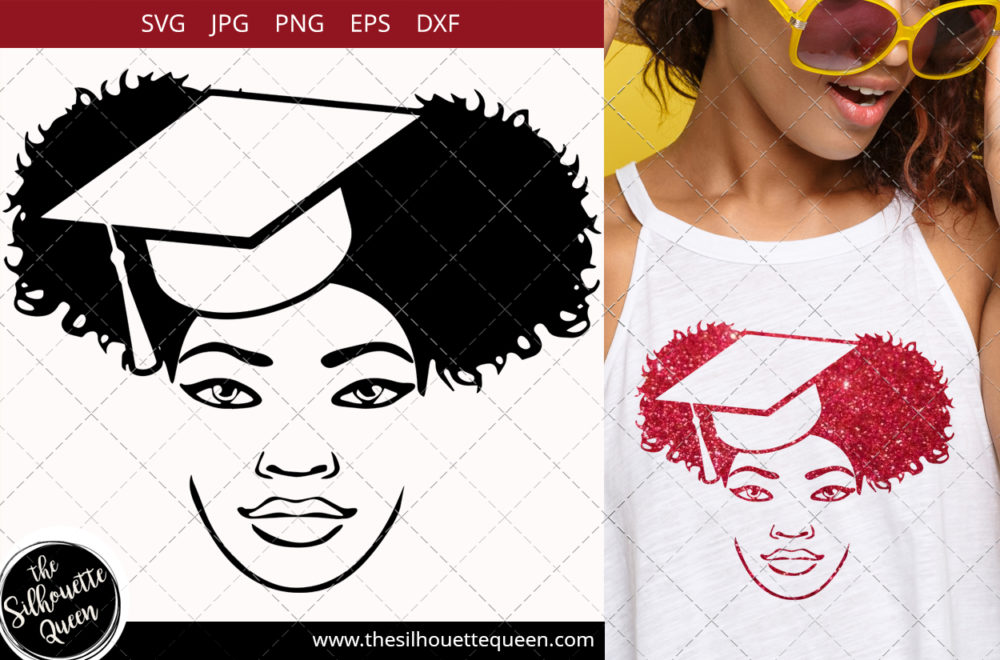 Afro Woman svg with bandana and side Puffs Svg