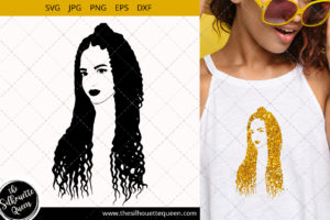 Afro Woman svg with Cornrow braids