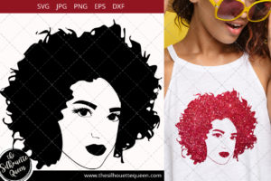 Afro Woman svg with Short Natural Curls