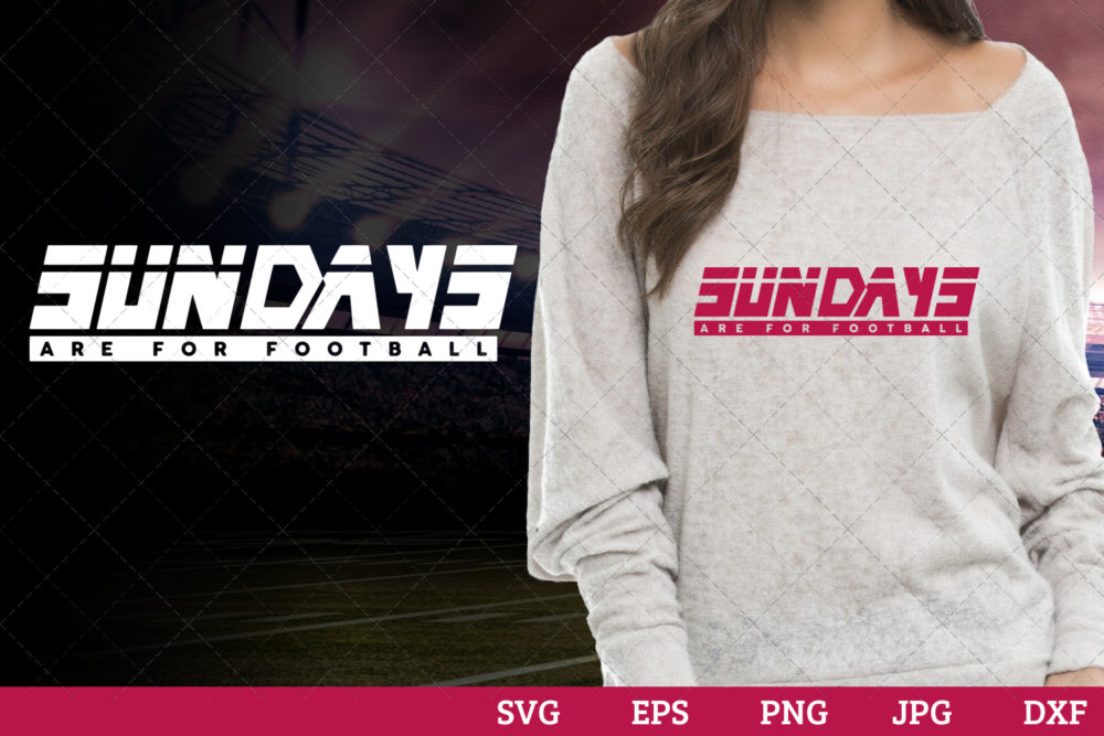 Sundays are for football Superbowl Football Sayings svg file for cutting
