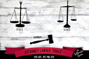 Attorney Tools Silhouette Vector