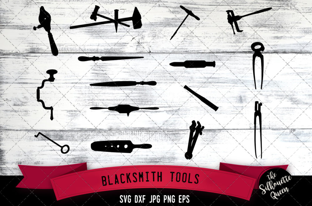 Blacksmith Tools Silhouette Vector