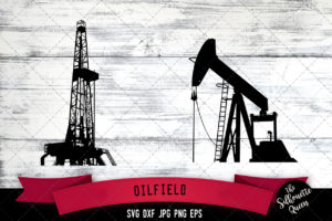 Oilfield Tools Silhouette Vector