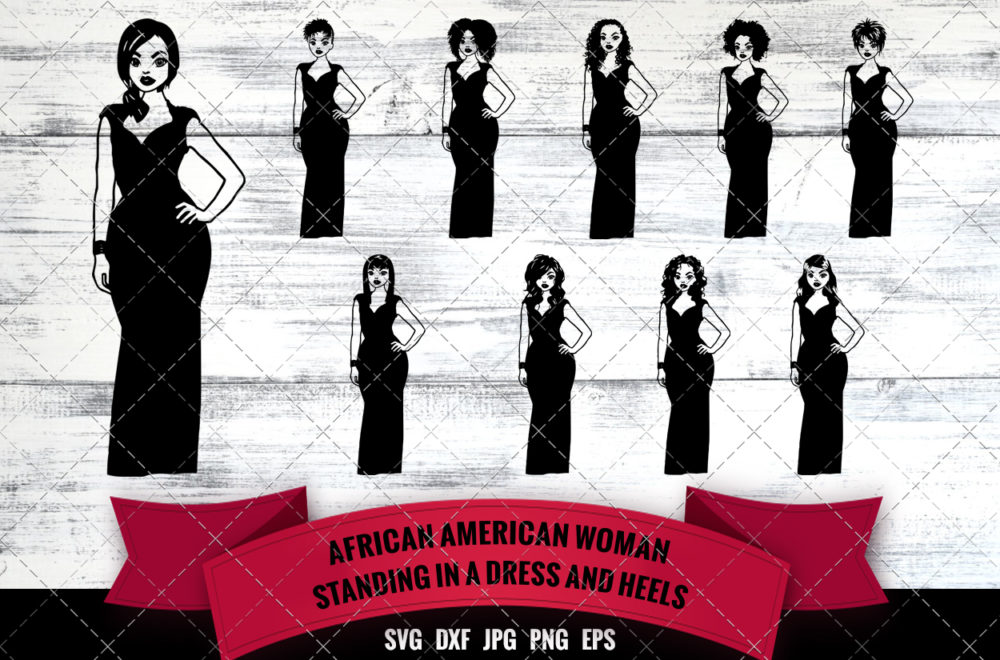 African American Woman - Prom Queen Classy Lady SVG - Black Woman