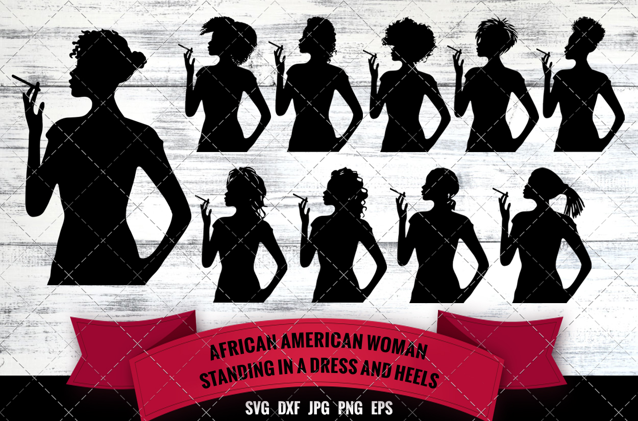African American Woman Smoking Svg Sexy Black Woman Afro Girl Nubian Queen Silhouette Cutting Files For Cricut Melanin Svg The Silhouette Queen