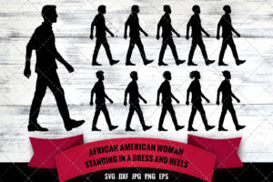 African American Man Walking SVG - Black King