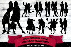 African American Woman Best Friends SVG - Black Woman Friends