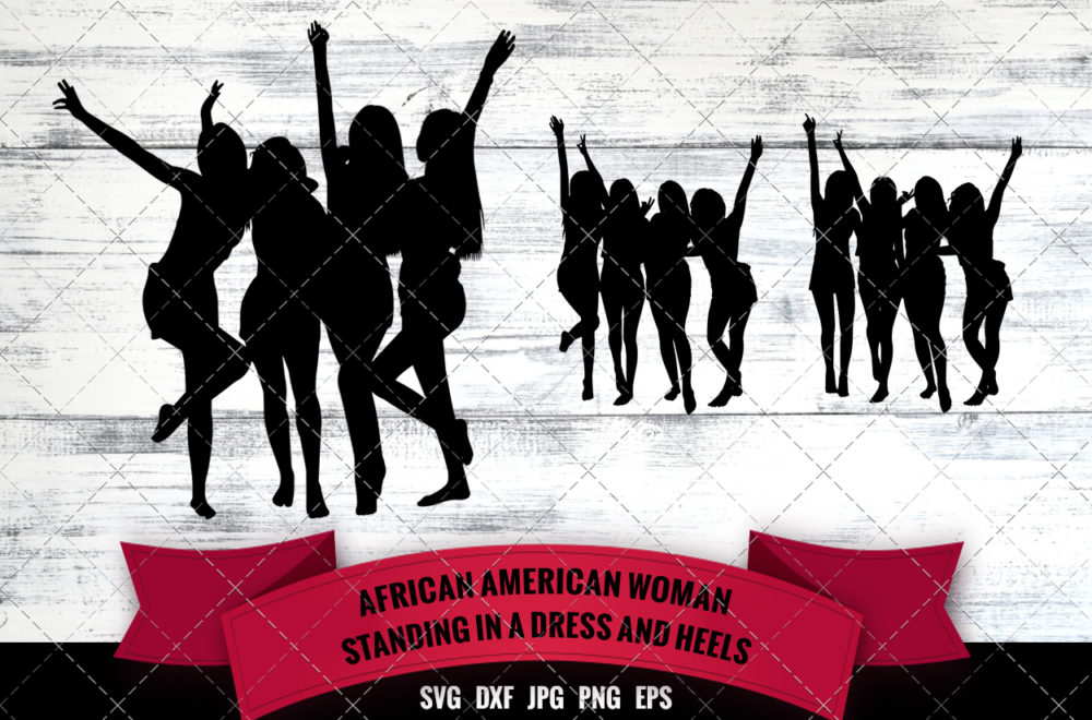 African American Four Friends SVG - Black Woman Group SVG