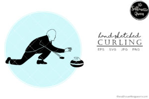 Hand drawn Curling clipart clip art
