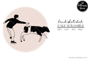 Hand drawn Calf Scramble  Vector Sketch