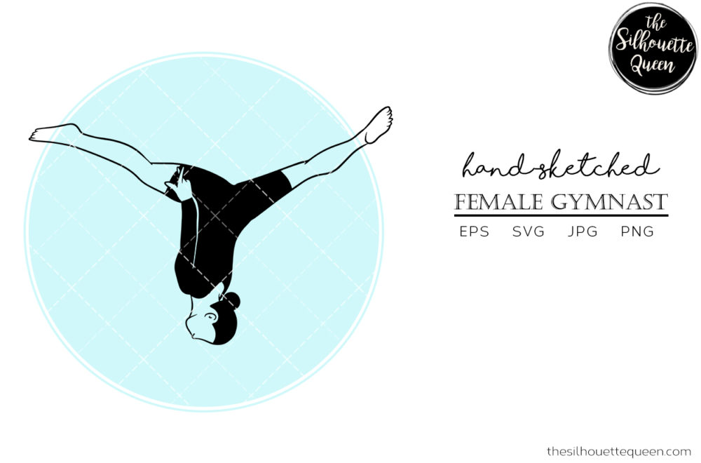 Hand drawn Female Gymnast clipart clip art